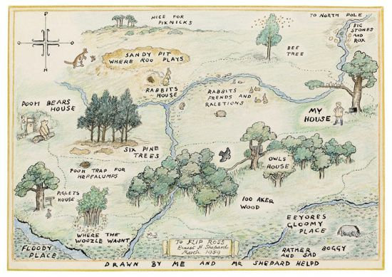 Blog on maps in children 39 s books and how much we love for Rough and milne