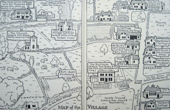 Blog on maps in childrens books and how much we love them map of the village from the milly molly mandy books ccuart