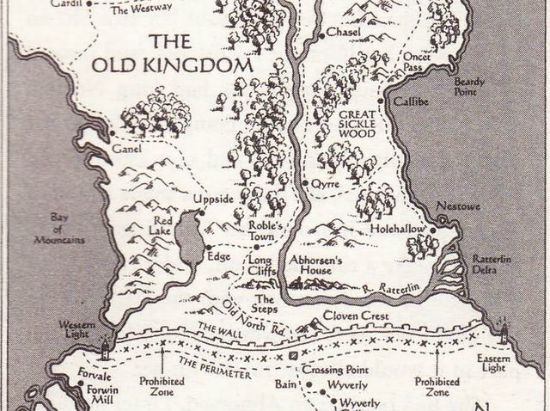 Blog on maps in childrens books and how much we love them map of the old kingdom from garth nixs fantasy series gumiabroncs Choice Image